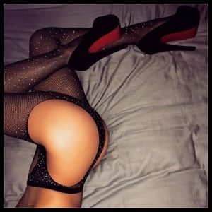 ❤NEW Sexy Bling Fishnet Open Crotch Stockings #D05